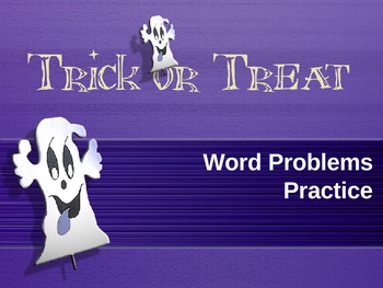 Halloween LCM and GCF Word Problems