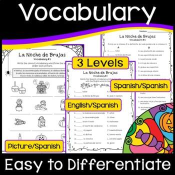Spanish Halloween (La Noche de Brujas) Bilingual Reading
