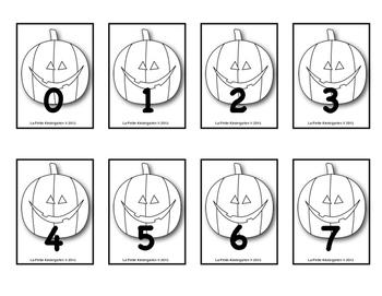 Halloween  (La comparaison des nombres à 10 Jeu de cartes)