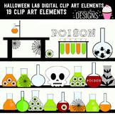 Halloween Lab Digital Clip Art Elements