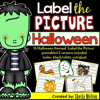 Halloween Label the Picture