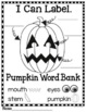 Halloween Writing Label the Picture