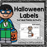 Halloween Cut and Paste Labeling Activity