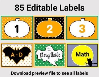Halloween Labels – 85 Editable Labels