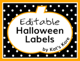 Halloween Labels – 85 Editable Labels