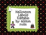 Halloween Labels Editable