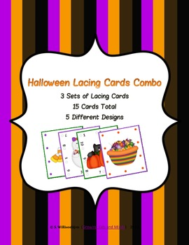 Halloween Lacing Cards Combo