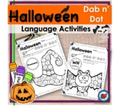 Halloween Language Activities Dab n Dot | Speech Therapy |