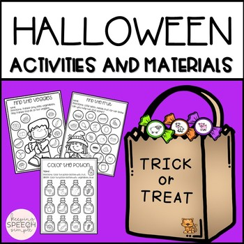 Halloween Language Activities and Materials for Speech Therapy