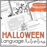 Halloween Language Activities for Speech Therapy