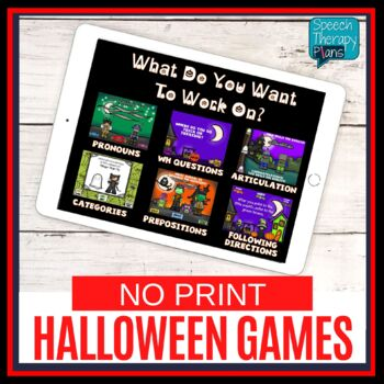 No Print Halloween Language & Articulation Activities