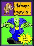 Halloween Language Arts Activity Packet - Color Version