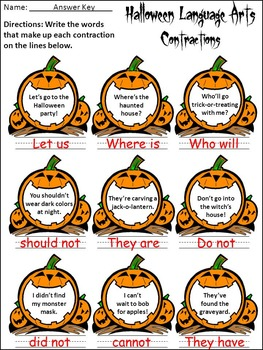 Halloween Language Arts Activity Packet - Color Version