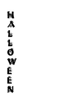 Halloween Language Arts