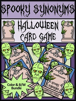 Halloween Games Activities: Spooky Synonyms Halloween Language Arts Card Game