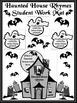 Halloween Language Arts Activities: Haunted House Rhyming Words Activity Packet