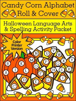 Halloween Language Arts Activities: Candy Corn Alphabet Ro