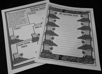 Halloween Language Arts Activities: Halloween Roll-A-Story Writing Activity