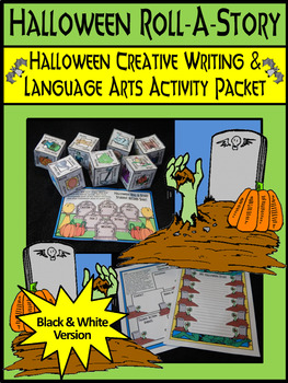Halloween Language Arts Activities: Halloween Roll-A-Story Writing Activity