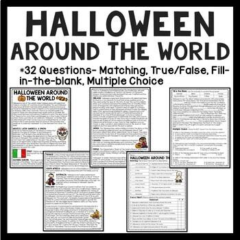 Halloween Language Arts Bundle- Reading Comprehension, Grammar, Poem, October