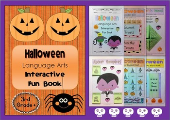 Halloween Language Arts Interactive Fun Book
