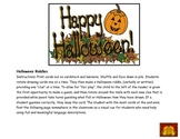 Halloween Language: Attributes and Descriptions