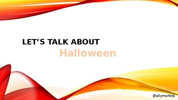 Halloween Language Lesson: Vocabulary & WH Questions
