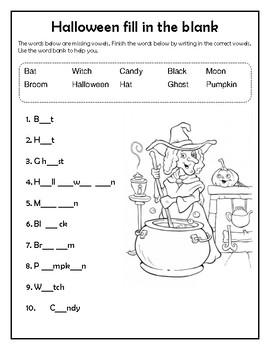 Halloween Language Printables
