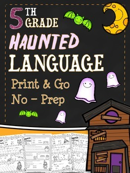 Halloween Language Printables - Fifth Grade