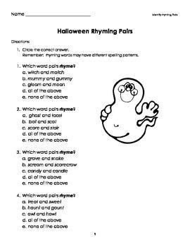 Halloween Language Arts Activities