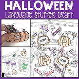 Halloween Language Stuffer Craft | Halloween Speech Therapy