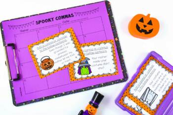 Halloween Language Task Cards {4th and 5th Grade}