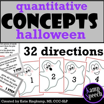 Halloween Language Therapy - Quantitative Directions