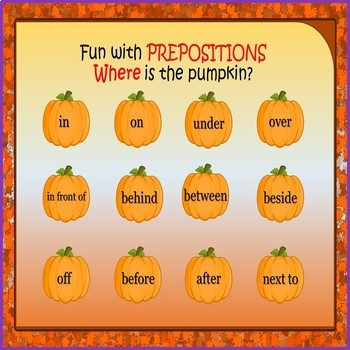 Halloween Language Prepositions, Plurals, Pronouns, Antonyms - Teletherapy