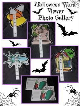 Halloween Language Arts Activities: Halloween Word Viewers Activity - Color