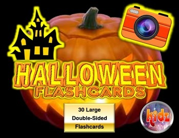 Halloween Large Flashcards (30 front and back)