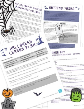 Halloween Lesson Pack (with free clip art)