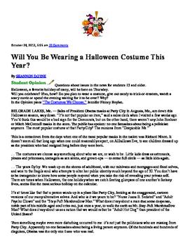 Halloween Lesson Plan