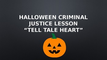 "Halloween Lesson! ""Tell Tale Heart"""