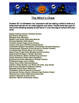 Halloween Lesson, The Witch's Chew