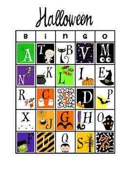 Halloween Letter Bingo