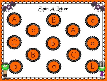 Halloween ABC Letter Games