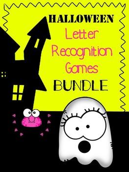 Halloween Letter Recognition Games Bundle