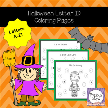 Halloween Letter ID Coloring Pages Morning Work