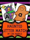 Halloween Letter Match Cards for Preschool