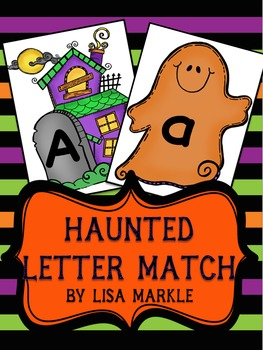 Halloween Letter Match Cards for Preschool