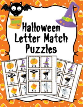 Halloween Letter Match Puzzles