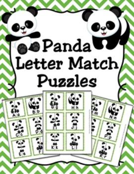 Panda Letter Match Puzzles