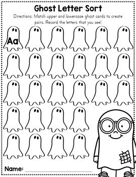 Halloween Letter Matching Cards - Free