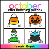 Halloween Letter Matching Puzzle - Spanish